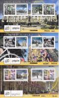 Eiland Man Tour De France Uitgifte 6 Vellen Met Tourwinnaars Oa Eddy Merckx - Isla De Man