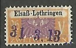 FISCAL /  SOCIO-POSTAUX  ALSACE LORRAINE N° 28 OBL - Fiscale Zegels