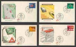 Deutschland Germany 1971 FDC + Mi 670 /3 YT 534 /7 - New Traffic Regulations  //  Neue Regeln Im Straßenverkehr - Transportmiddelen