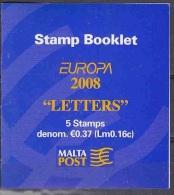 Europa Cept 2008 Malta Booklet ** Mnh (23346) - 2008
