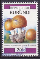 Timbre Oblitéré N° 974(Yvert) Burundi 1992 - Champignons - Burundi