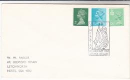 1986 Lerwick SHETLAND GB Stamps COVER EVENT Pmk  VIKINGS UP HELLYAA - 1952-.... (Elizabeth II)