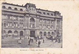 Bruxelles - Hotel Des Postes (animée, Tramway, Publicité Félix Potin) - Bruxelles-ville