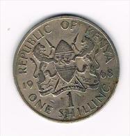 ***  KENYA 1 SHILLING   1968 - Kenya