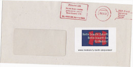 2002 REMAIL COVER Amsterdam NETHERLANDS PRIORITAIRE METER Inst PHAMACOLOGY BERLIN University GERMANY , FU MEDIZIN LABEL - Period 1980-... (Beatrix)