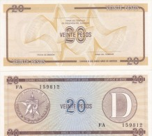 Cuba - 20 Pesos Ex. Certificate aUNC serie FA - Lemberg-Zp