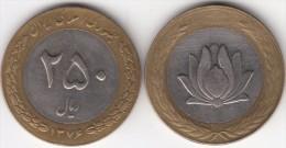 Iran 250 Rials 1997 Bimetallic Km#1262 - Used - Iran