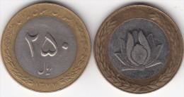 Iran 250 Rials 1998 Bimetallic Km#1262 - Used - Iran