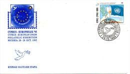 CHYPRE. Enveloppe Commémorative De 1995. Europhilex'95. - Esposizioni Filateliche