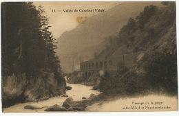 13 Vallée De Conches Passage De La Gorge Entre Morel Et Nussbaumbrucke Chemin Fer Furka - VS Valais