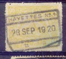 K647 -België Spoorweg Stempel HAYETTES N° 1 - 1915-1921
