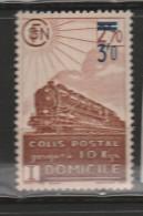 FRANCE N° 204 COLIS POSTAL 3F0 S 2.70 BRUN LIVRAISON A DOMICILE SURCHARGE DECALEE NEUF SANS CHARNIERE - Neufs