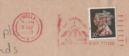 1990 Cover RAF FINNINGLEY AIR SHOW Lincoln GB SLOGAN  Pmk Stamps Penny Black Anniv Airforce Aviation Flight - 1952-.... (Elizabeth II)