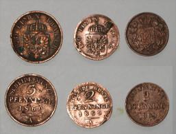 3 Pièces De 3 Et 2 Pfenning 1869 Allemagne Prusse - Taler & Doppeltaler