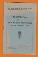 MANUEL MILITAIRE: SAINT-CYR..1952...LA CONSTITUTION De La REPUBLIQUE FRANCAISE Du 27 OCTOBRE 1946... - Boeken, Tijdschriften, Stripverhalen
