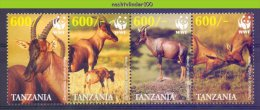 Nbx392s WWF FAUNA ZOOGDIEREN MAMMALS TOPI-LEIERANTILOPE WILDLIFE TANZANIA 2006 PF/MNH - W.W.F.