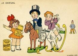 Image  Publicitaire - Blédine Blécao - Enfant , Jeux :  Automobile Et Cheval - Publicités