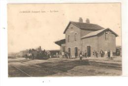 COMBLES 1922 LA GARE TRAIN LOCOMOTIVE - Combles