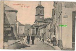 Carte Postale Ancienne De BRUYERES – RUE DE L'EGLISE - Bruyeres