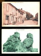 BTE 81 DIV 2. Alban LOT DE 2 CARTES Avenue De Milhau Et Rocher Saint Michel - Alban