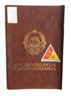 PASSAPORTO  PASSPORT    REISEPASS   YUGOSLAVIA  VISA TO: GREECE , ETATS SCHENGEN - Historische Dokumente