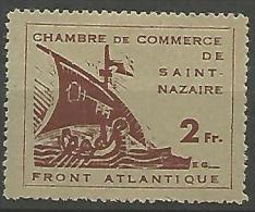 ST NAZAIRE  N� 9 NEUF TRACE DE CHARNIERE  / Sign� CALVES / 3 SCANS