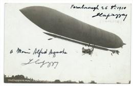 CPA BALLON DIRIGEABLE / AUTOGRAPHE AERONAUTE CAPAZZA / LEBAUDY 1910 - Zeppeline