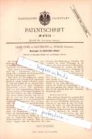 Original Patent - H. Dubs In Hottingen Bei Zürich , Schweiz , 1888 , Elektricitäts-Zähler !!! - Documents Historiques