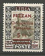 FEZZAN N� 7 NEUF* TRACE DE CHARNIERE  / Sign� BRUN / 3 SCANS
