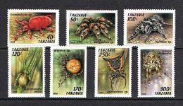 Tanzania 1994 Sc # 1235 / 1241  MNH **  Spiders - Insekten