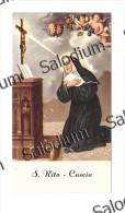 S. RITA DA CASCIA  - Santino - Holy Card - Santini