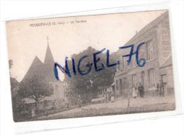 CPA 76 HEUQUEVILLE ( Seine Inférieure ) Le CARREAU , EGLISE - Photo Bazile , Cauville - Otros Municipios