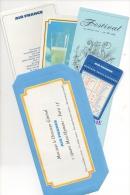 """Publicité Aviation. Air France. Lot De 5 Documents """"in The Sky"""" - Publicités"""