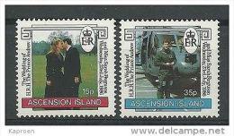 Ascension 1986 Wedding Of Prince Andrew & Sarah Ferguson Y.T. 403/404 ** - Ascension (Ile De L')