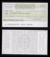ITALIA 1976 - Mini Assegno - BANCA CATTOLICA Del VENETO - Udine - 100 Lire - SP6 - [10] Assegni E Miniassegni