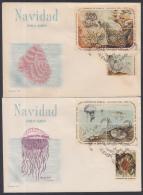 1964-FDC-32 CUBA. FDC. 1964. NAVIDAD. CHRISTMAS. FAUNA INVERTEBRADOS. CORALES MARINOS. CORAL SEA. - FDC