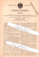 Original Patent - J. Golaz-Sènac In Genf , Schweiz , 1891 , Selbstthätiger Briefaustheiler !!! - Documents Historiques