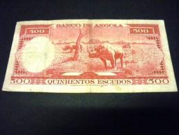 ANGOLA 500 Escudos 10/06/1970,pick N° 97,ANGOLA - Angola