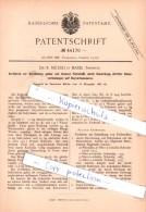 Original Patent - Dr. R. Nietzki In Basel , Schweiz , 1887 , Darstellung Gelber Und Brauner Farbstoffe !!! - Documents Historiques