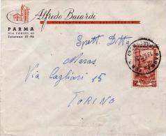 Busta Viaggiata; Con Annullo D'arrivo Al Verso - 1946-60: Marcofilia