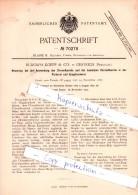 Original Patent - R. Koepp & Co. In Oestrich , Rheingau , 1892 , Anwendung Des Chromfluorids !!! - Historische Dokumente