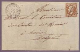 013. LAC N°13 - De La Mairie De FONTENOY LE CHATEAU (Vosges) - 1860 - Marcofilia (sobres)