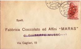 Busta Viaggiata Nel 1952; Senza Annullo D´arrivo - 1946-60: Marcofilia