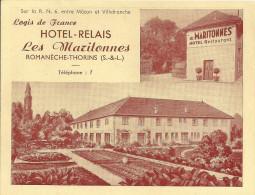 ROMANECHE  THORINS -  Hotel Relais , Les MARITONNES,  Sur Nationale 6 - Autres Communes