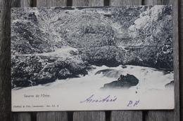 Carte Postale Source De L'Orbe Affranchie Type Armoiries Pour Berne Oblitération Vallorbe Suisse Bern Poste Restante - 1882-1906 Coat Of Arms, Standing Helvetia & UPU
