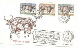 LMM13 - CAMBODGE - FDC PROTEGEZ LE KOPREY ANIMAL UNIQUE AU CAMBODGE - Cambodge