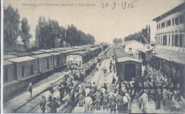 Cervignano Udine Stazione Ferroviaria Treno/binari/stazione Convoglio Dei Prigionieri Austriaci - Udine