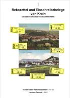 Rekozettel Und Einschreibebelege Von Krain Als österr.Kronland 1886 - 1918 - Philately And Postal History