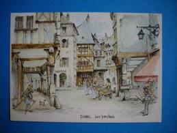 Cpm  DINAN  -  22  -  Les Porches  -  Illustrateur Robert LEPINE  -  Côtes D´Armor - Dinan