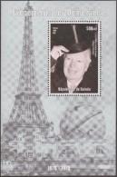 Guinée 1998. Evénements Du 20ième Siècle. Tour Eiffel, Charlie Chaplin, Nommé Chevalier - Cinema